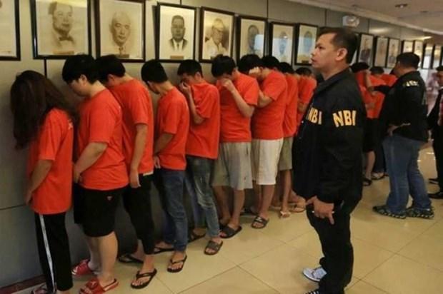 菲律宾破获网络犯罪案 逮捕300多名中国嫌疑人 hinh anh 1