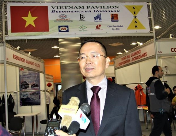 越南企业参加2019年俄罗斯国际轻工纺织博览会 hinh anh 3