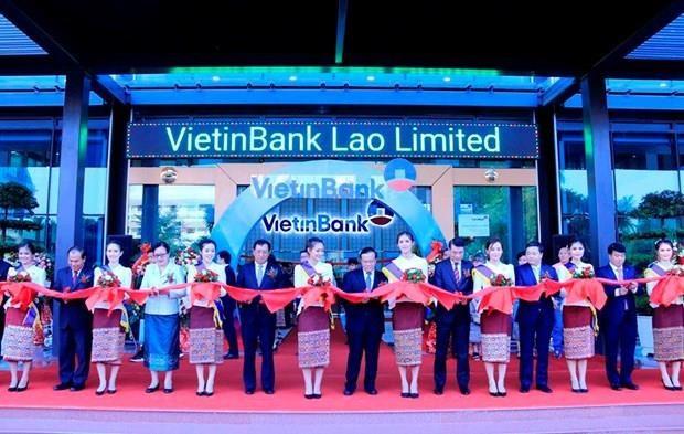 越南工商银行老挝分行正式开业 hinh anh 1
