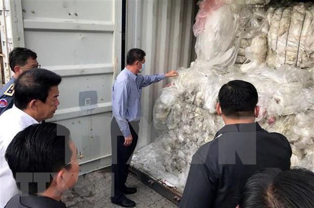 柬埔寨将全部塑料垃圾集装箱退回美国和加拿大 hinh anh 1