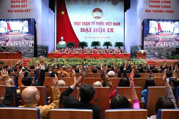 越南祖国阵线第九次全国代表大会召开第一场工作会议 hinh anh 1