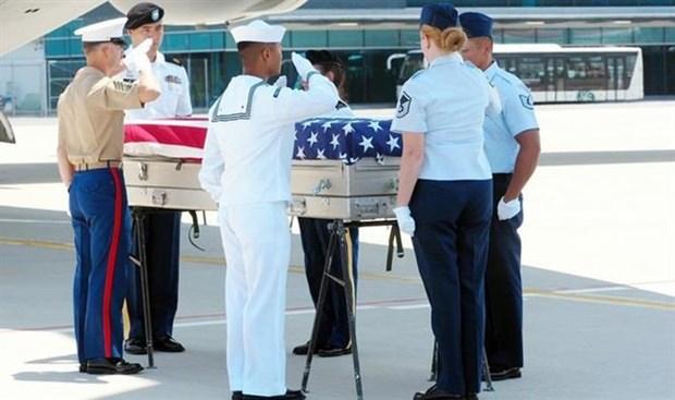 美国军人遗骸交接仪式在岘港国际机场举行 hinh anh 1
