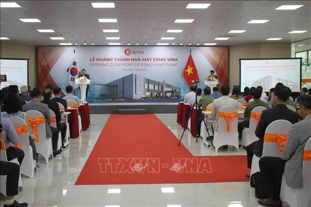 韩国ESMO公司在宁平省兴建的汽车零部件生产厂正式落成 hinh anh 1