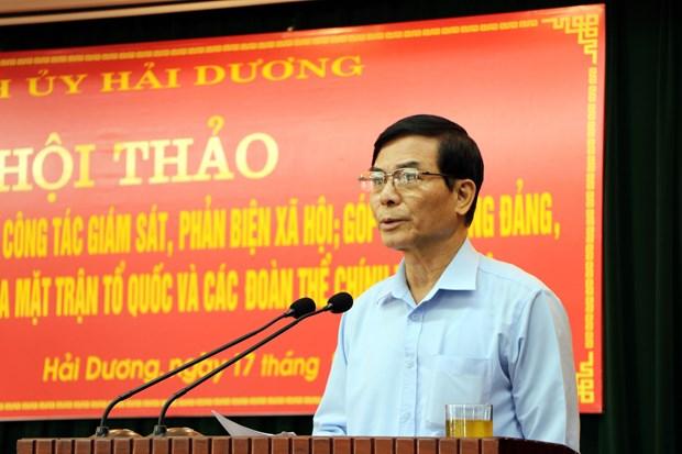 海阳省:致力提升民主监督和参政议政的工作质效 hinh anh 1