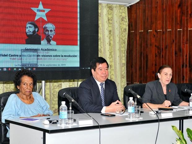 关于胡志明主席与古巴领袖菲德尔·卡斯特罗思想价值的学术研讨会在哈瓦那举行 hinh anh 1