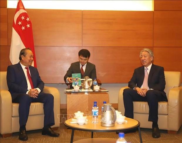 越南政府常务副总理张和平对新加坡进行正式访问 hinh anh 3