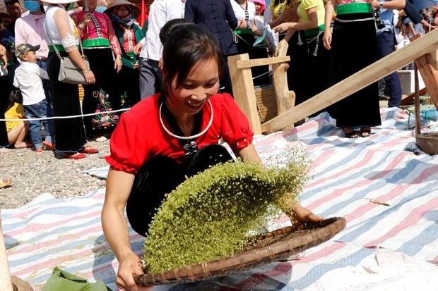 秀丽乡扁米节:推崇泰族同胞传统文化价值 hinh anh 2
