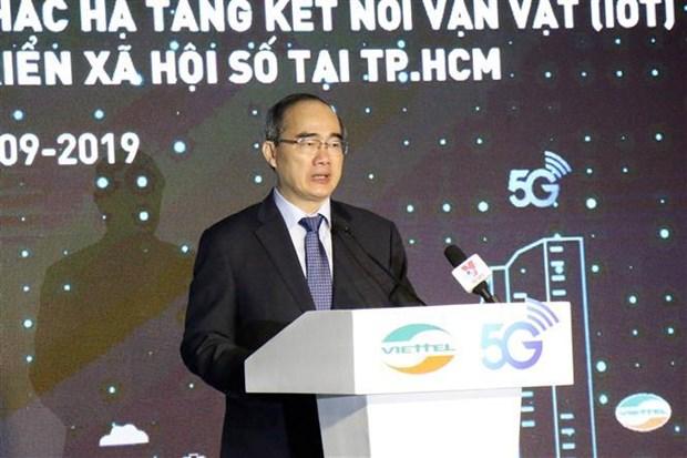 Viettel在胡志明市开展第五代移动通信网络 hinh anh 2