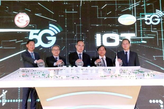 Viettel在胡志明市开展第五代移动通信网络 hinh anh 1