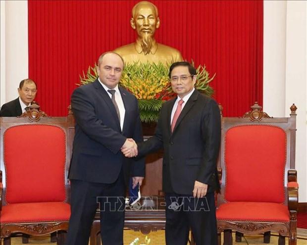 越共中央组织部部长范明正会见白俄罗斯副总理利亚申科 hinh anh 1