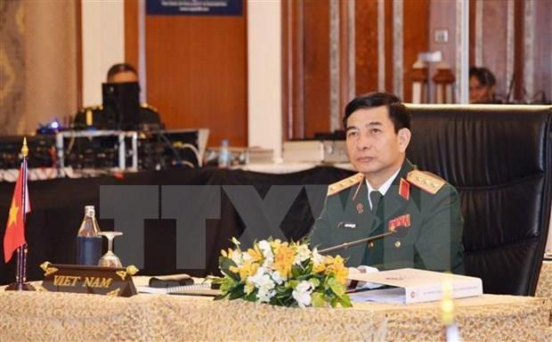 越南人民军高级代表团正式访问缅甸 hinh anh 1