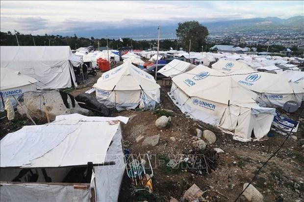 印尼帕卢地震海啸后一年 近6万人仍住在临时住所 hinh anh 1