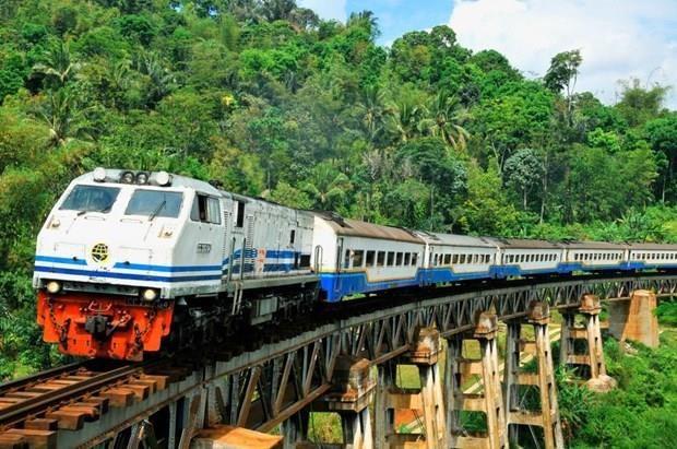 印尼与日本合作建造连接雅加达和泗水的中速铁路 hinh anh 1
