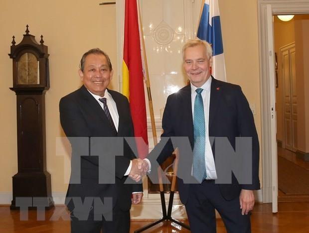 越南政府常务副总理张和平访问芬兰:芬兰支持早日批准EVFTA hinh anh 1