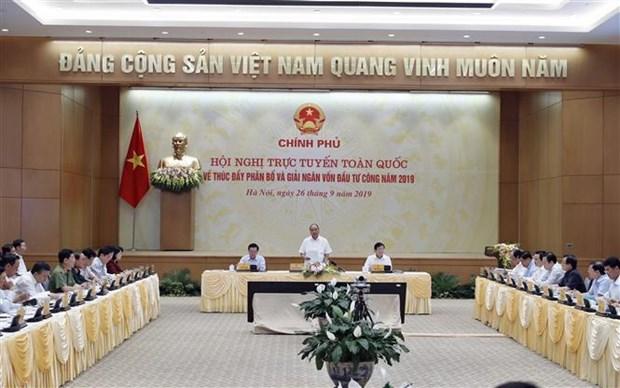 阮春福:推进公共投资拨付是重大而紧迫的政治任务 hinh anh 1