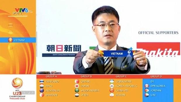 U23亚洲杯分组抽签揭晓出炉:越南队与朝鲜、约旦和阿联酋在同一个小组 hinh anh 1