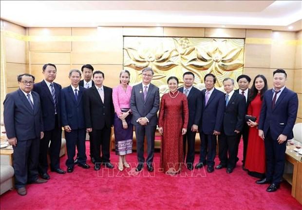 """越南向老挝大使授予""""致力于各民族和平友谊""""纪念章 hinh anh 2"""