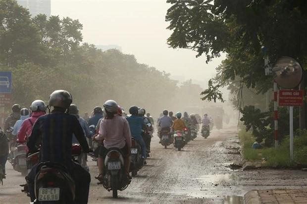 河内环境保护分局:空气质量差主要由粉尘污染造成 hinh anh 1