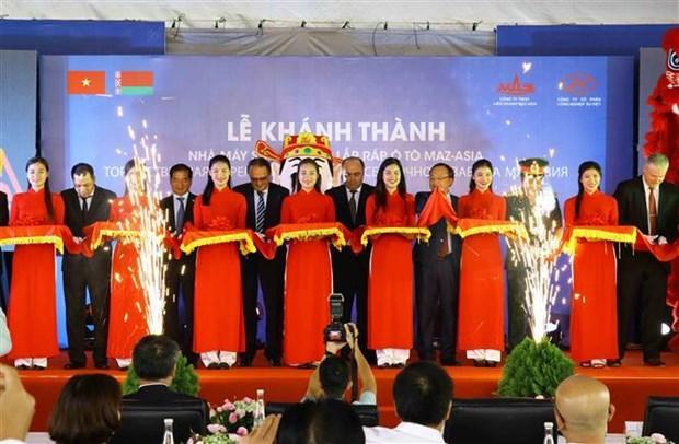 白俄罗斯副总理出席马兹亚洲汽车制造厂落成典礼 hinh anh 1