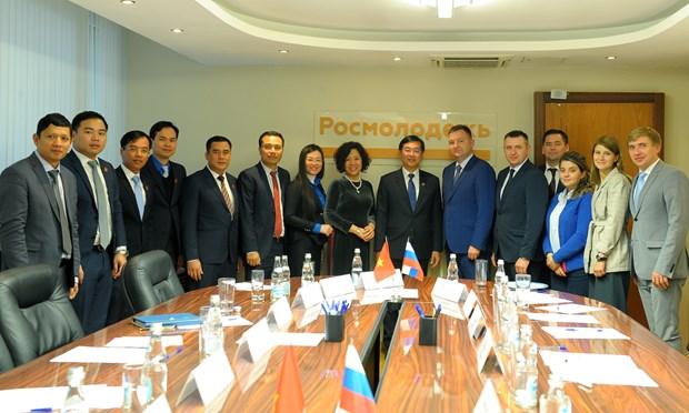 进一步增强越俄两国青年的合作与交流 hinh anh 1