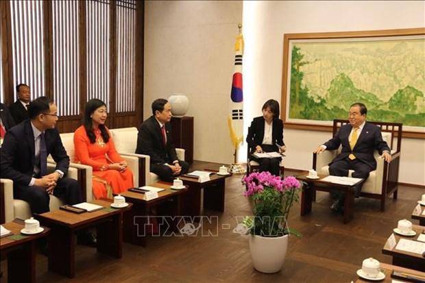 越南祖国阵线高级代表团对韩国进行工作访问 hinh anh 1