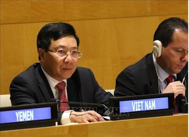 越南政府副总理兼外长范平明出席G77会议 hinh anh 2