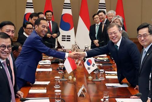印度尼西亚呼吁韩国企业对该国电动车电池制造领域投资 hinh anh 1