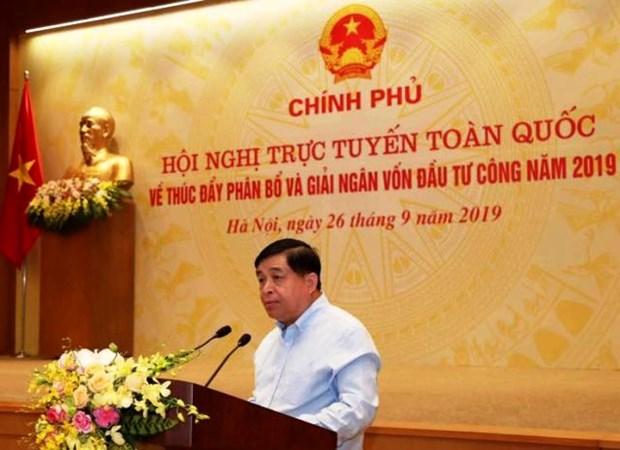 """计划与投资部部长:公共投资资金拨付工作仍是越南经济的""""灰点"""" hinh anh 1"""