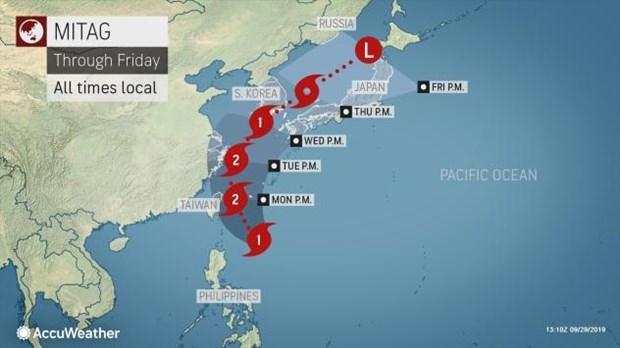 越航因遭受台风米娜影响而调整航班执行计划 hinh anh 1