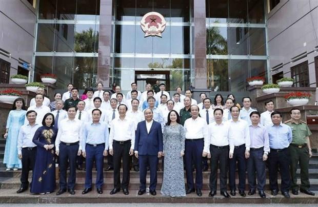 越南政府总理阮春福同谅山省主要领导举行工作座谈会 hinh anh 2