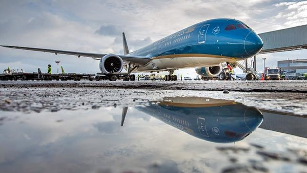 受台风米娜影响越航调整飞往中国的部分航班计划 hinh anh 1