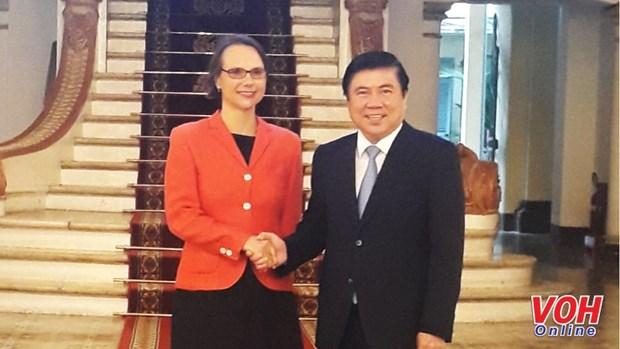 胡志明市与德国促进多领域合作 hinh anh 1