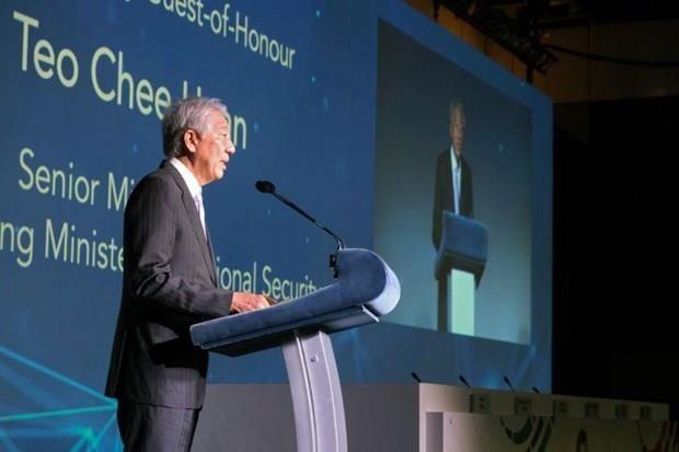 越南公安部副部长阮文成率团参加第四届新加坡国际网络周 hinh anh 1