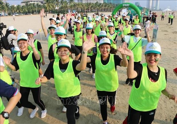 """岘港举办""""为了儿童安全""""马拉松比赛 hinh anh 1"""