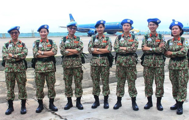 越南与柬埔寨加强联合国维和经验交流 hinh anh 1