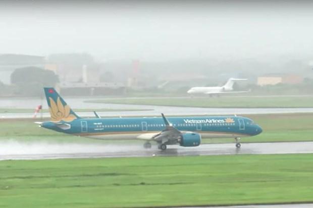 越航因台风米娜继续调整部分航班执行计划 hinh anh 1