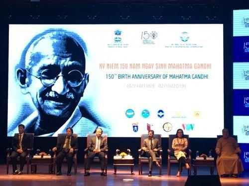 印度民族英雄圣雄甘地诞辰150周年纪念典礼在河内举行 hinh anh 1