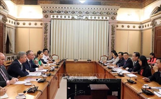 胡志明市加强与英国的经贸合作 hinh anh 1