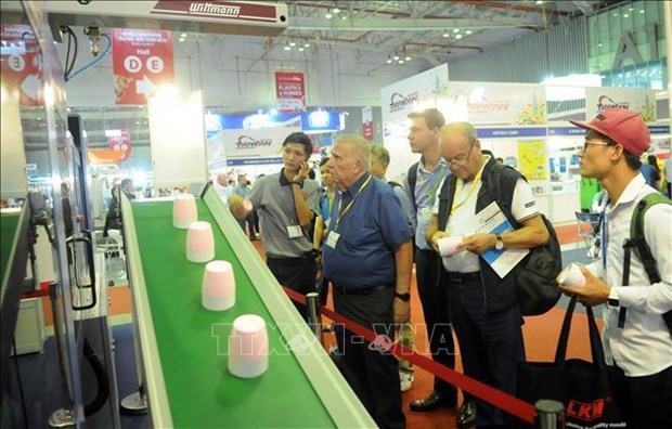 2019年越南国际塑料橡胶工业展览会在胡志明市开幕 hinh anh 2