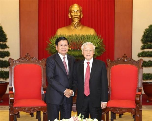 老挝总理通伦结束对越南的正式访问之旅 hinh anh 1