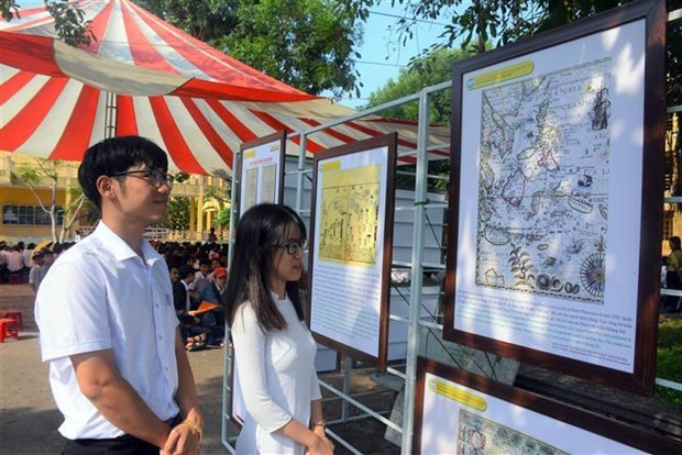 """""""黄沙、长沙归属越南——历史证据和法律依据""""展览会在广南省举行 hinh anh 2"""