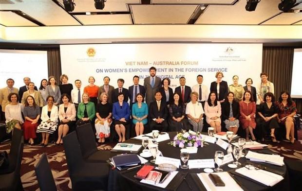 促进对外领域女性作用和参与度对越澳经济增长具有重要意义 hinh anh 1