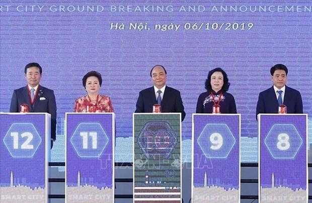 智慧城市项目正式开工 政府总理阮春福出席 hinh anh 2