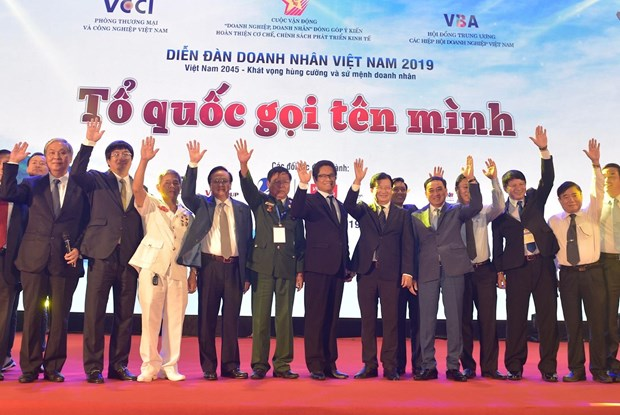 政府副总理郑廷勇出席2019年越南企业家论坛 hinh anh 1