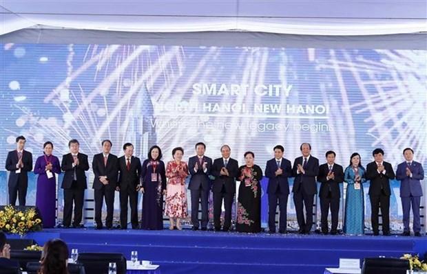 智慧城市项目正式开工 政府总理阮春福出席 hinh anh 1