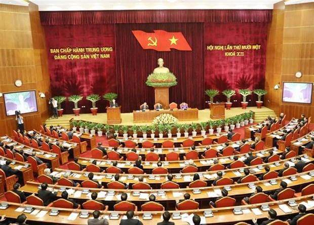 越南共产党第十二届中央委员会第十一次全体会议在河内隆重开幕 hinh anh 1