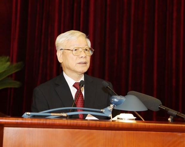 越南共产党第十二届中央委员会第十一次全体会议在河内隆重开幕 hinh anh 2