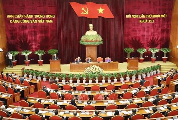 越共十二届中央委员会第十一次全体会议公报(第二号) hinh anh 1