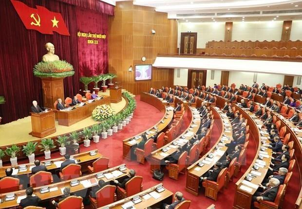 越共十二届中央委员会第十一次全体会议公报(第三号) hinh anh 1