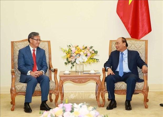 老挝驻越大使任期届满向越南政府总理辞行 hinh anh 1